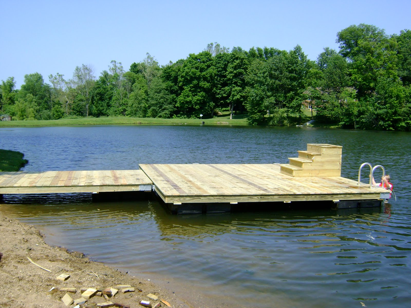 Herman brothers blog building floating docks for Bass pond construction