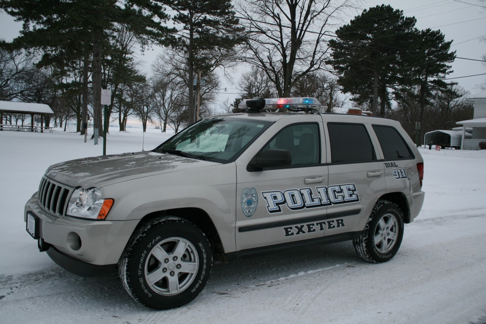 a new police vehicle and