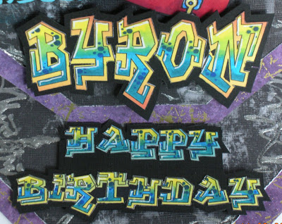 using a couple of different fonts called, Graffiti Treat, Graffiti