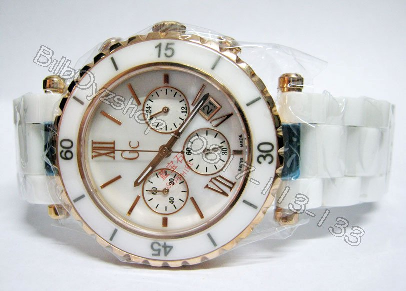 jam tangan lasebo on NEW ARRIVAL GC CERAMIC CRONOGRAPH WHITE