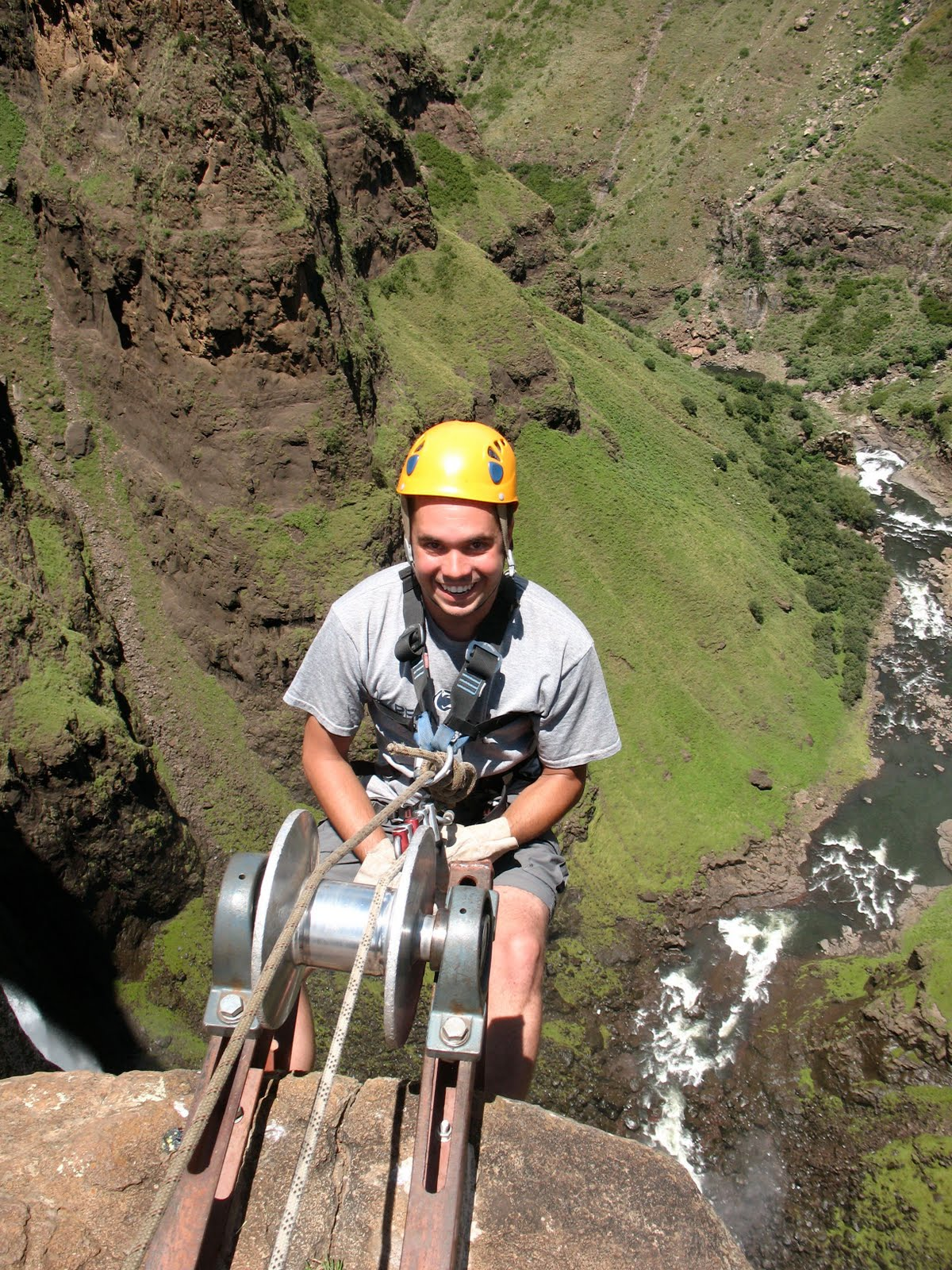 Maletsunyane Falls abseil