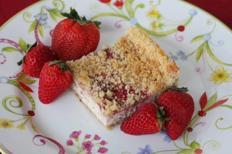 Strawberry Cheesecake Squares - Our Best Bites