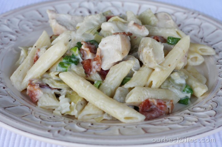 Bacon chicken alfredo pasta recipe