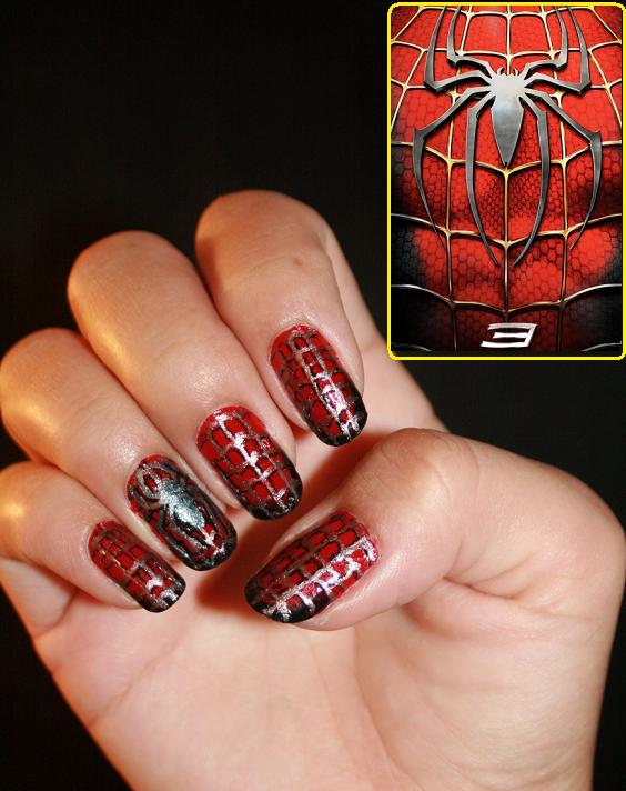 Headspace nail art spider man nails i did these on my own id been wanting to do super hero inspired nail designs for awhile and one night i just decided to give spider man prinsesfo Choice Image
