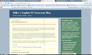 screen capture of mr millers blog