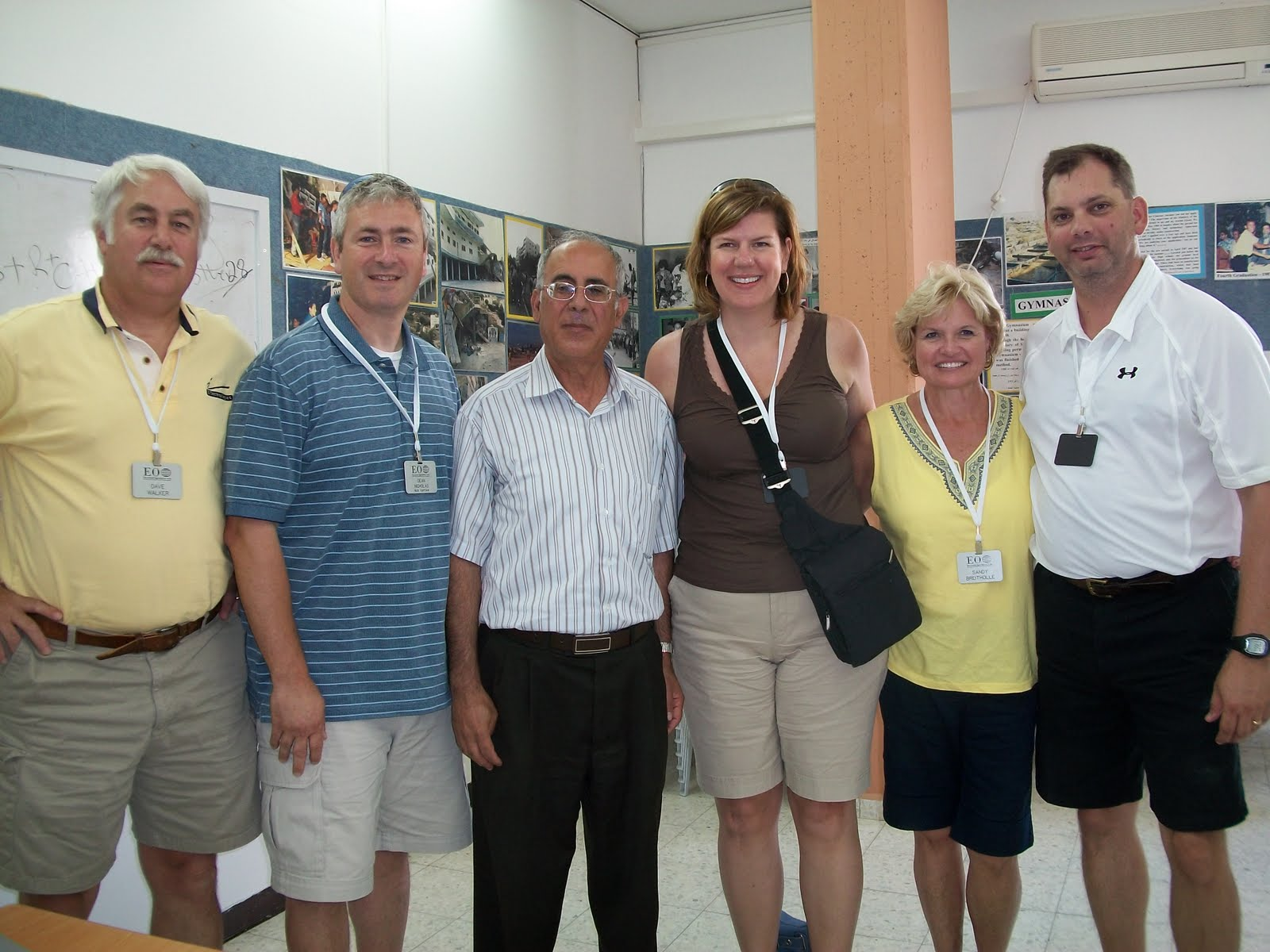 CHCA Administrators at Mar Elias High School, Ibillin, Israel