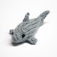 knitted shark magnet