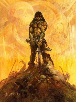Conan el Bárbaro interpretado por Frank Frazetta