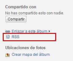 RSS Picasa