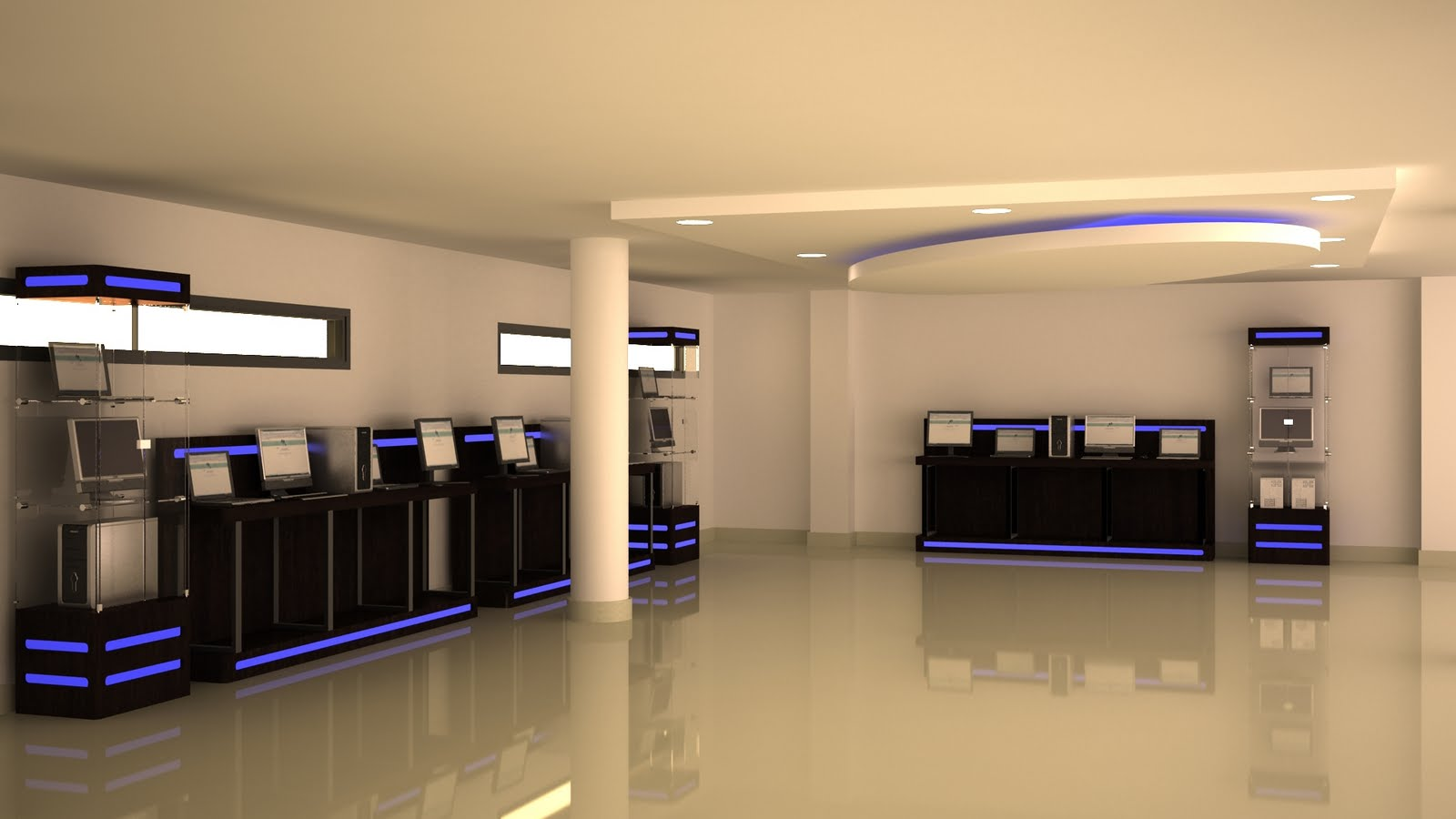 Bdc designs dise o 3d de muebles para tienda de tecnologia for Diseno de muebles 3d
