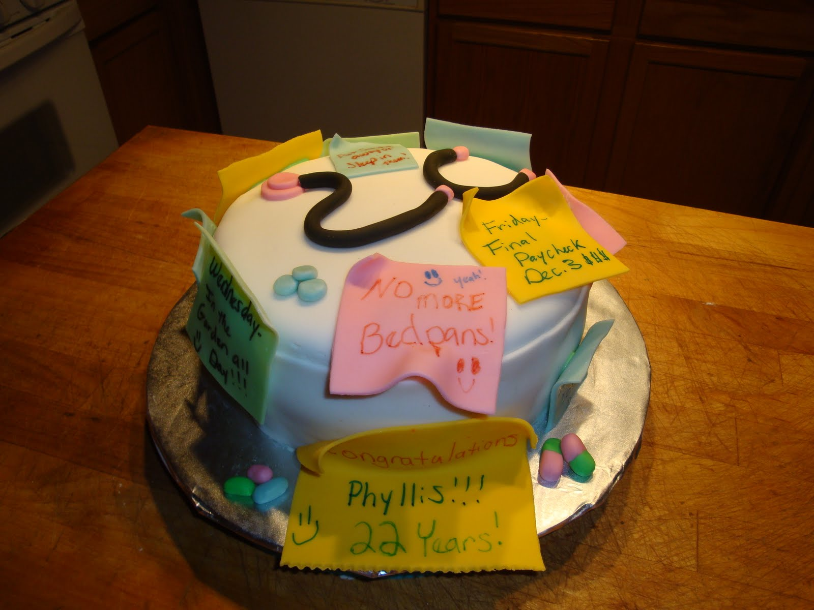 Sweet Thang's Confections: Happy Retirement Phyllis!