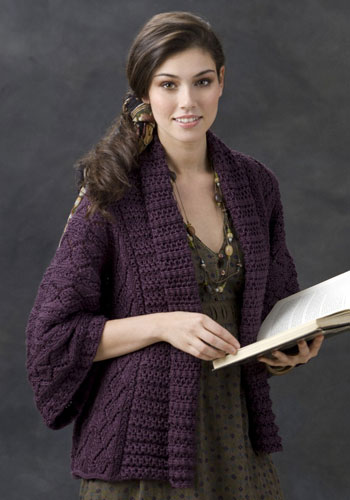 Free Crochet Patterns For Kimono Sweater : Margrets Musings: Xian Knit Kimono Jacket