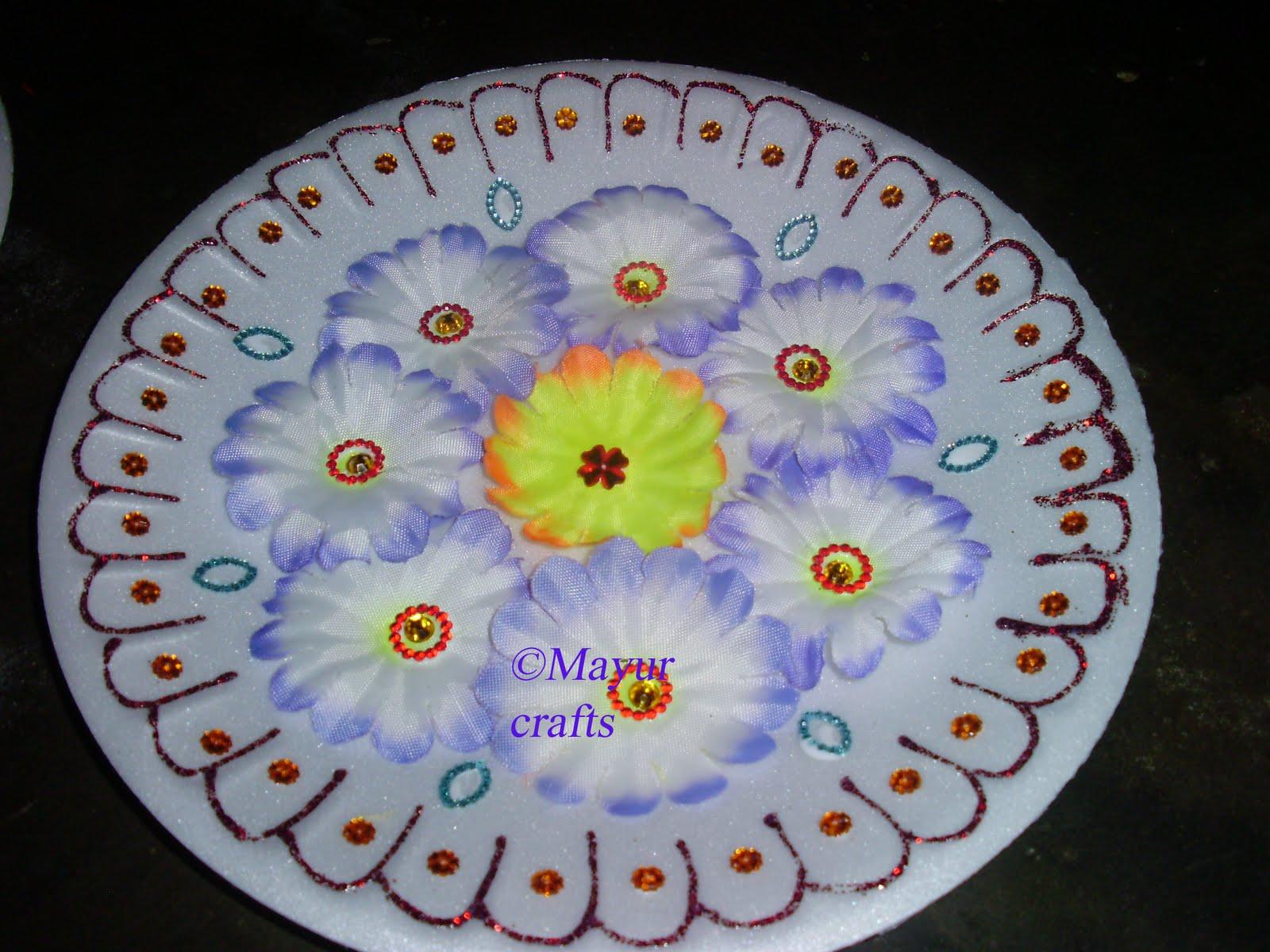 Plate Decoration & Mayur Arts \u0026 Crafts : Plate Decoration