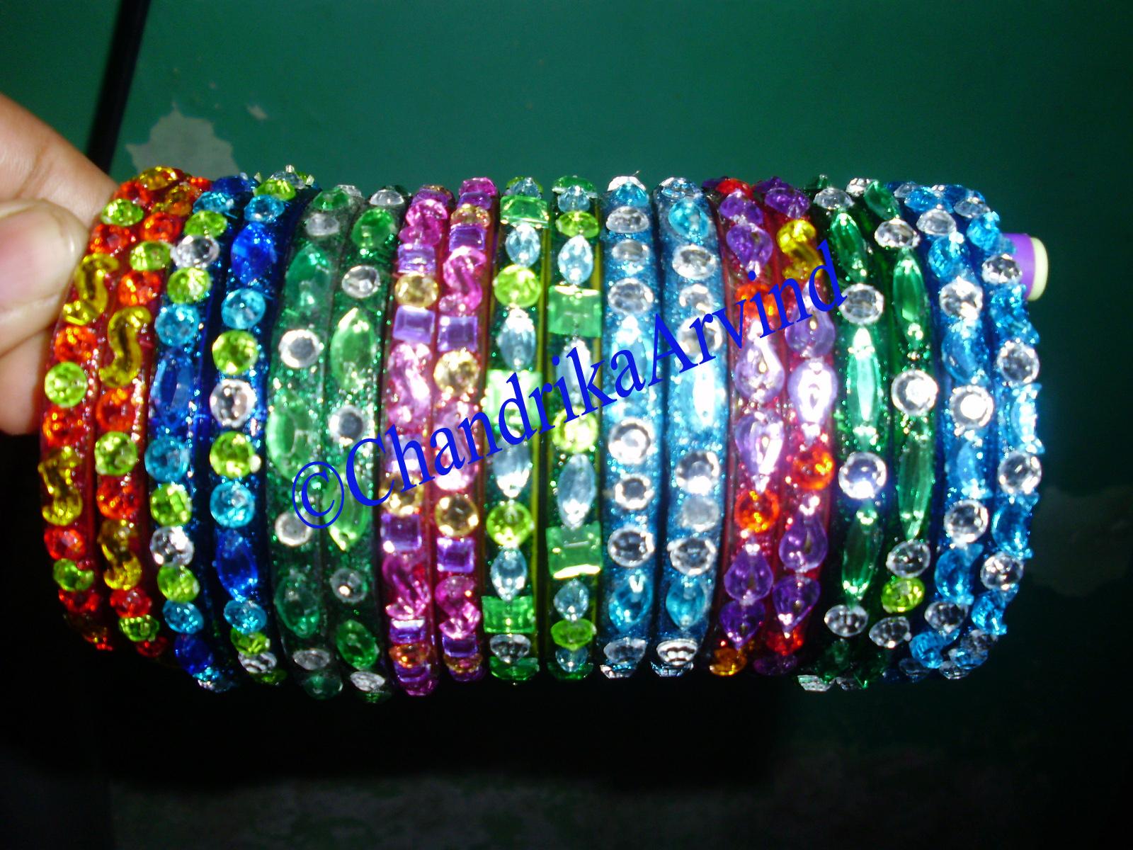 Mayur arts crafts designer bangles for Craft using waste bangles