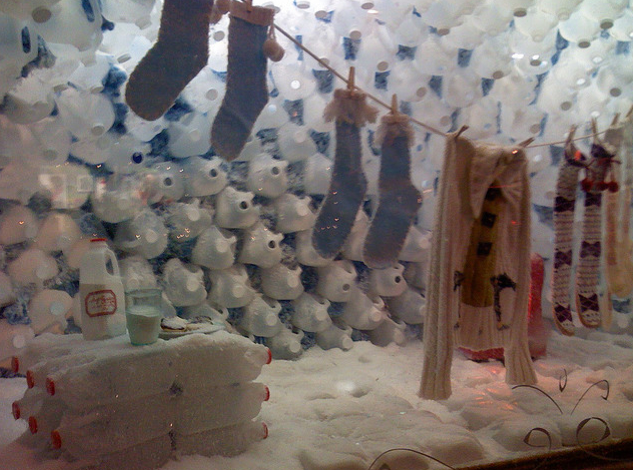 The pvblic blog igloos and things made from recycled for Things make from waste material