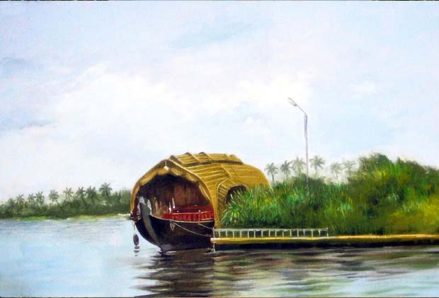 Hose boat    Oil Color