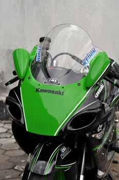 modifikasi motor ninja rr hijau terkeren