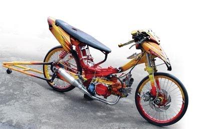 Modifikasi Motor Honda Supra X 110 Drag Race Sport 2011