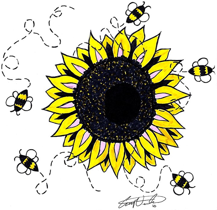 Sunflower another tattoo design i later made after the Just Be tattoo