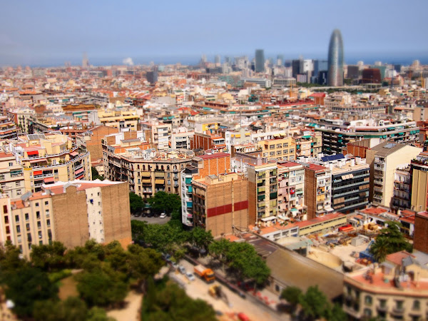 Barcelona in Diorama