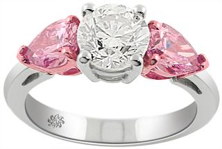 unique pink diamond wedding ring - Pink Diamond Wedding Ring