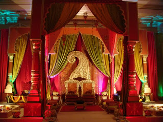 Traditional Indian Wedding Stage Decorations