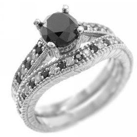 Modern Black Diamond Wedding