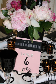Beautiful Wedding Table Numbers