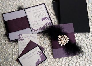 Wedding Invitations Ideas: Purple and Black Wedding Invitations ...