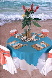 Beach Theme Table Decorations