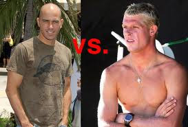 Mick Fanning and Kelly Slater