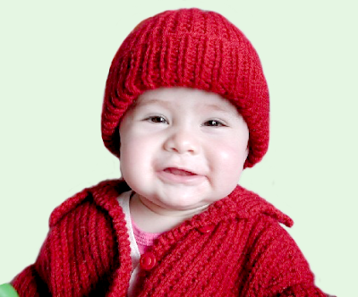 Tejer Bien: Gorro y saquito para bebé