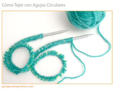 Las agujas circulares se consiguen de distintos tamaños (2.25mm a 15.00mm) y diferentes longitudes, desde 30 cm a 150 cm en total (que se mide de punta a