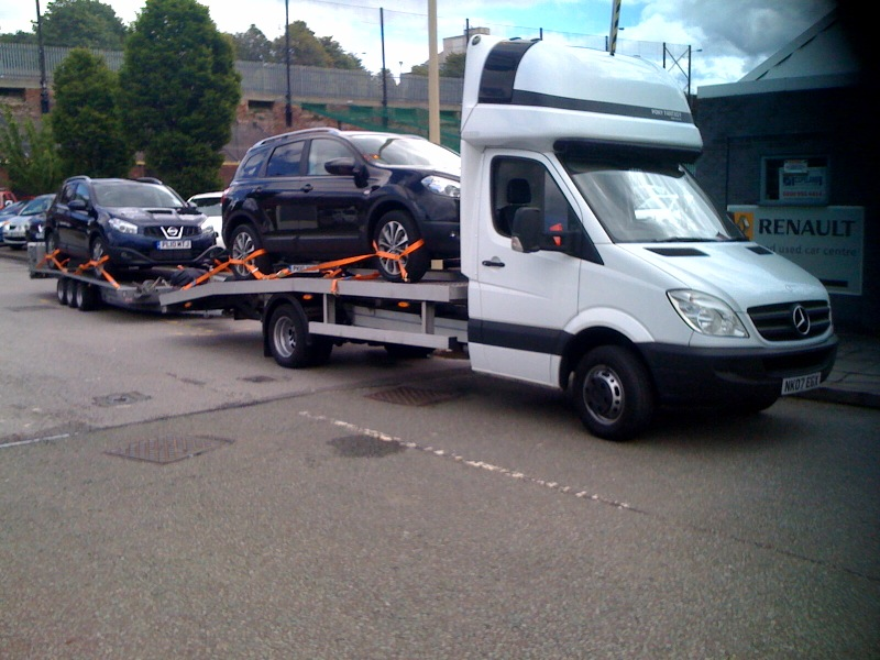 mercedes sprinter with trailer se car transport manchester delivery schedules. Black Bedroom Furniture Sets. Home Design Ideas