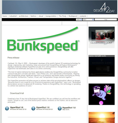 Latest News From Bunkspeed Design42day Will Feature