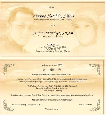 Contoh gambar undangan