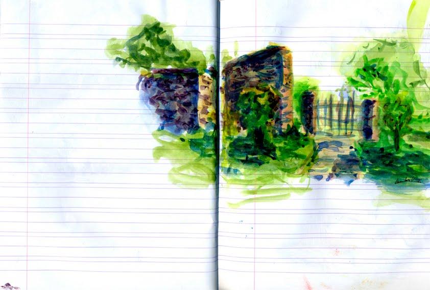Thibaut lambert vues du jardin for Croquis jardin
