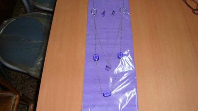 Colgante combinado violeta