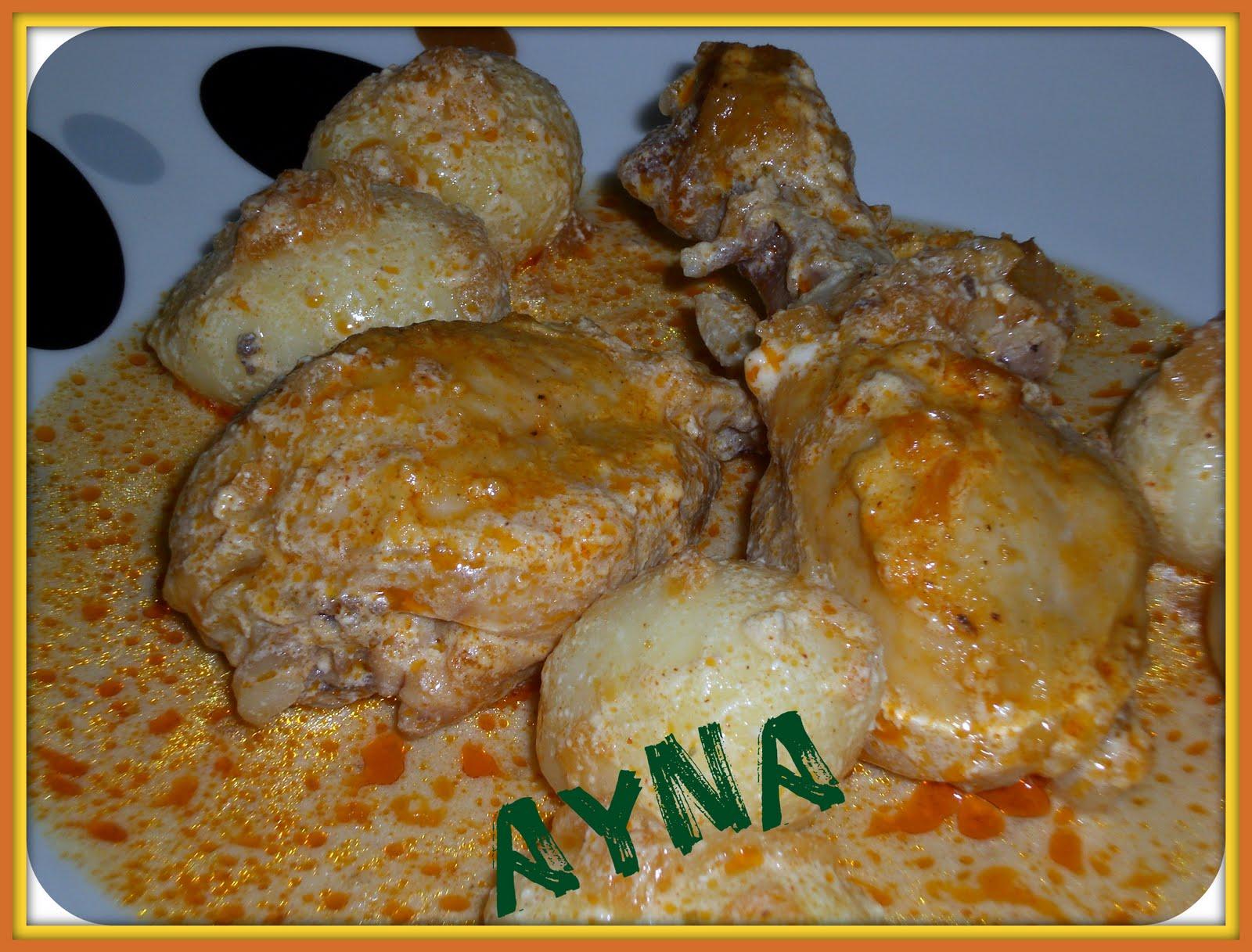 Ayna elmundodemaria muslos de pollo con salsa blanca for Muslos pollo en salsa