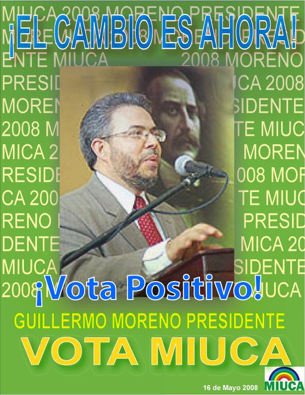 Dr. Guillermo Moreno Candidato Presidencial