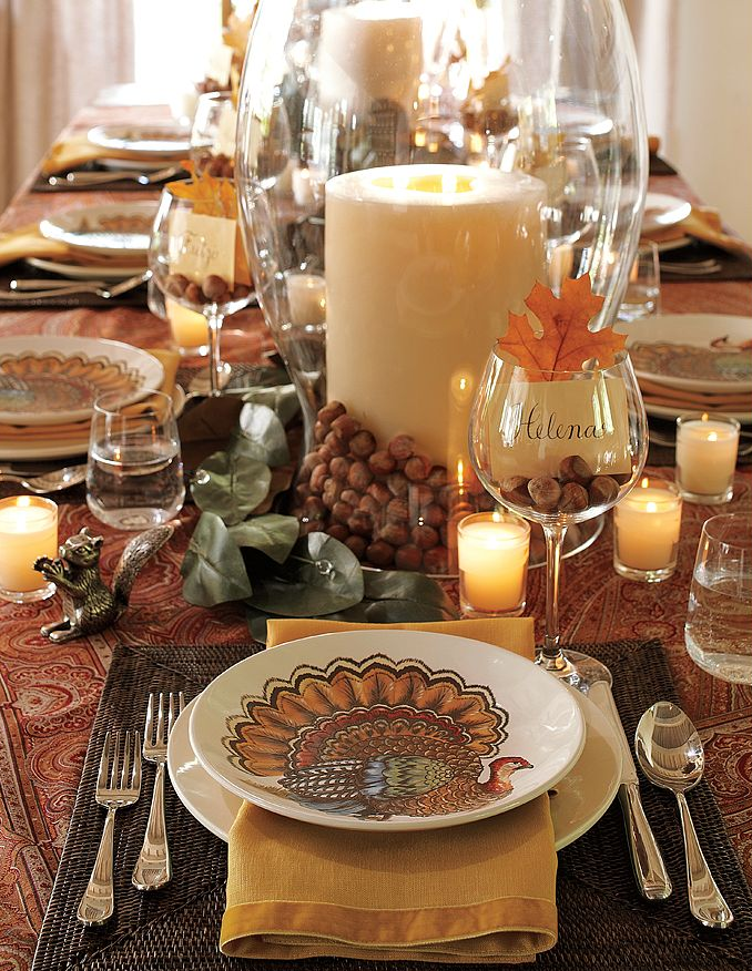 Bereketdecor harvest decoration ideas for thanksgiving for Elegant table setting for thanksgiving