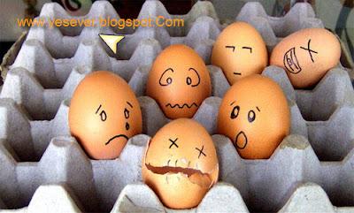 النحت على البيض