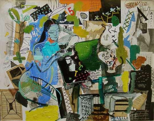 SURREALISMO. ARTE Y ARTISTAS PINTORES SURREALISTAS    Merello. Mijer Azul(146x114)-Acrilico.