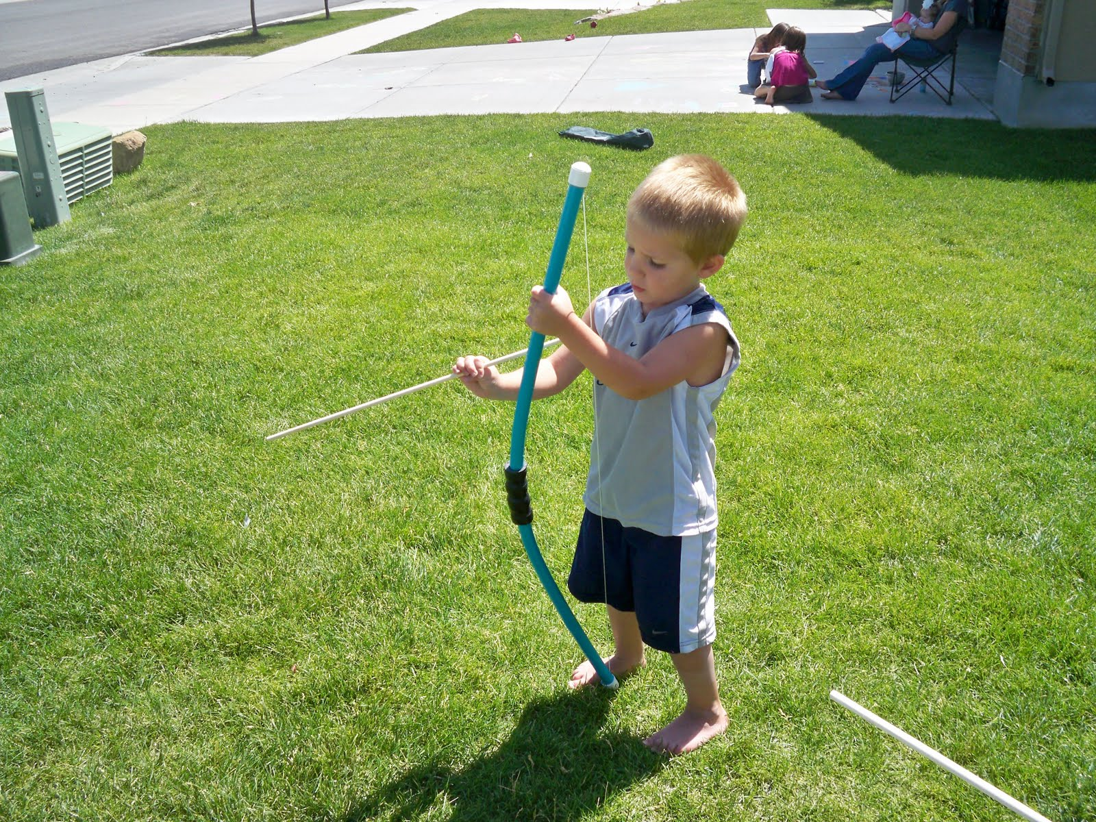 You craft me up pvc pipe bow and arrows for Bow made out of pvc pipe