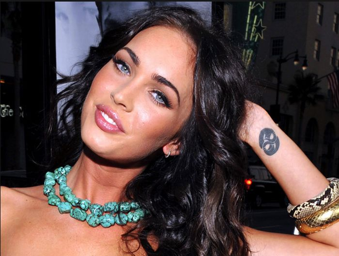 megan fox tattoos.  megan fox tattoos back
