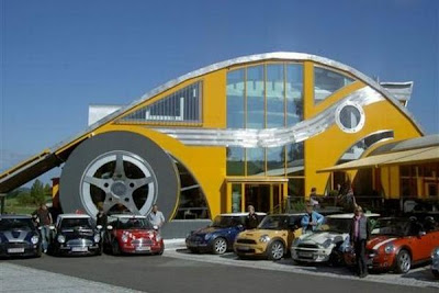 VW beetle inspired restaurant