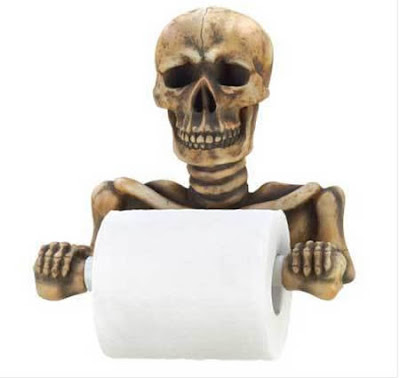 Funny unusual toilet paper holder