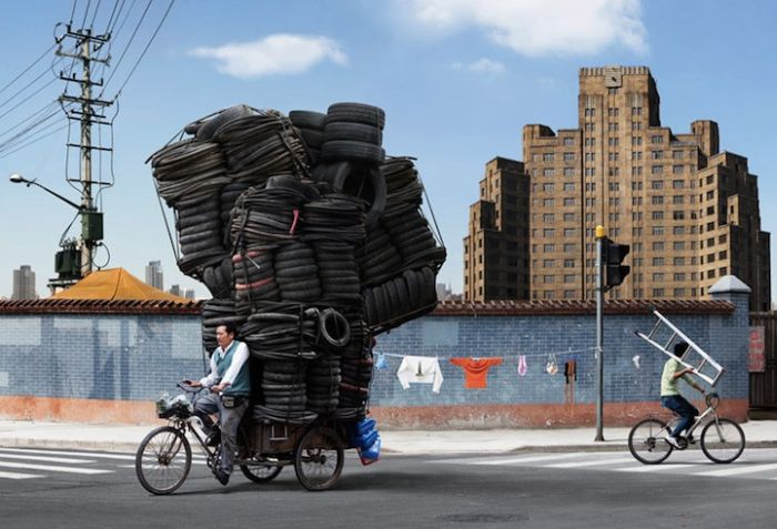 Shipping with bicycle: Heavy bicycle loads