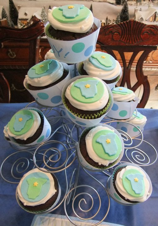 Baby Shower Cupcake Cakes Boy : c cakes: Boy Baby Shower cupcakes