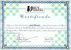 Certificado Professor de Teatro